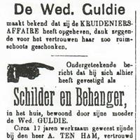 advertentie uit 1890